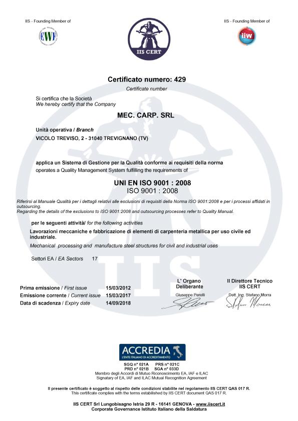Mec Carp iso9001